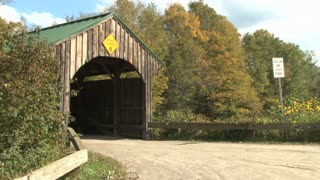 Covered Bridge On Country Road 2