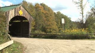 Covered Bridge On Country Road