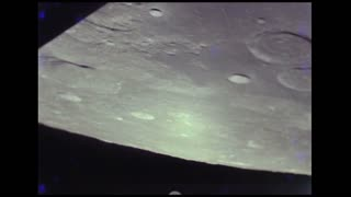 Craters Along Spinning Moon Surface