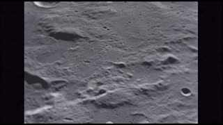 Craters Scattered Along Moon Surface