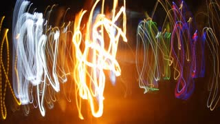Crazy Fire Lights Dancing