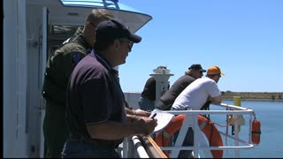 Crew Observing Water Test