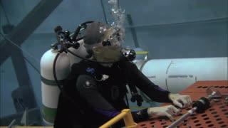 Crew Worker Underwater