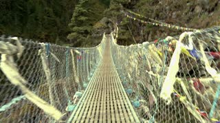 Crossing Over Rope Bridge 2