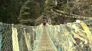 Crossing Over Rope Bridge 3