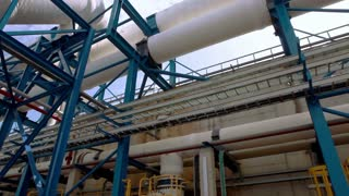 Crossing Pipes at Ashkelon Seawater Reverse Osmosis Plant