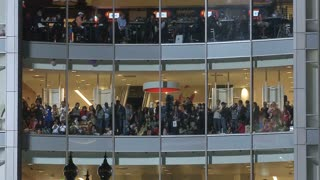 Crowd At Windows