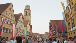 Crowd in Mespelbrunn, Germany Street