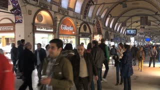 Crowd of People at Grand Bazaar