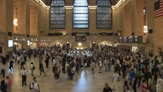 Crowd of People at Grand Central Station