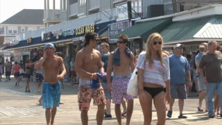 Crowd of People on Ocean City Boardwalk 2