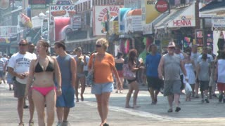 Crowd of People on Ocean City Boardwalk