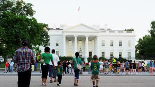 Crowd Outside White House