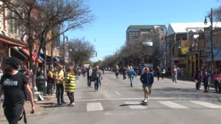 Crowd Walking To SXSW