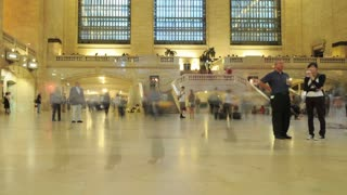Crowded Grand Central Station Timelapse
