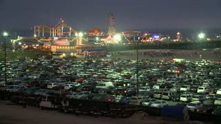 Crowded Lot Outside Santa Monica Pier