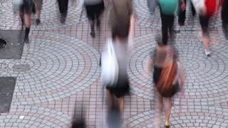 Crowded Sidewalk Time Lapse