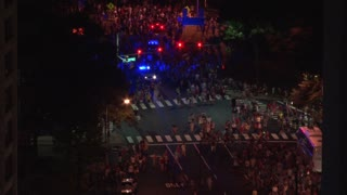 Crowds of People Leaving Washington DC Fireworks Show