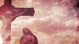Crucifixion Statue Grunge