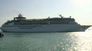 Cruise Ship Heading Out To Sea
