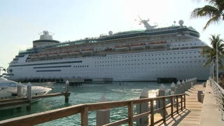 Cruise Ship Leaving Pier