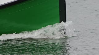 Cruising Green Boat Bow
