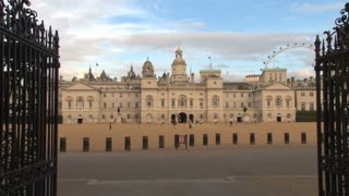 Cyclists Passing Horseguards Parade