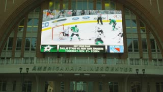 Dallas Stars on Jumbotron at American Airlines Center