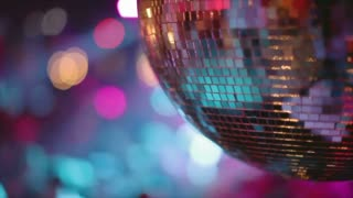 Dancing Crowd Beneath Disco Ball