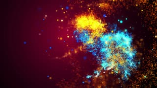 Dancing Fire and Water Particles Light Streak Looping Motion 4K