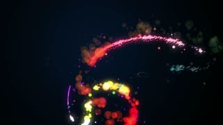 Dancing Particles bubble Light Streak Looping Motion - 4K Resolution Ultra HD