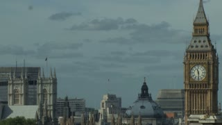 Dark Clouds Over Big Ben And London Skyline