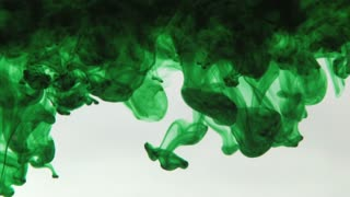 Dark Green Ink in Water