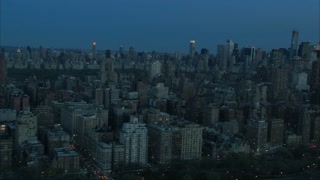 Dawn New York City Skyline Aerial