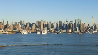 Day view of Midtown Manhattan across the Hudson River, New York, Manhattan, United States of America, Time-lapse