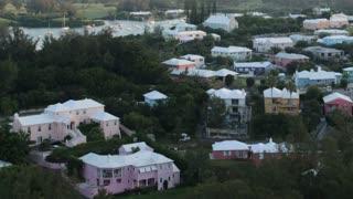 Daytime Pan Across Bermuda Landscape