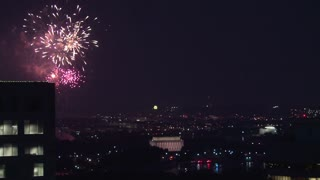 DC Fireworks Show Over the City