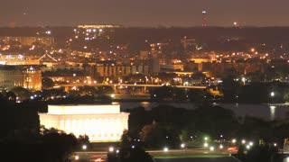 DC Memorials Sunrise Timelapse Pan