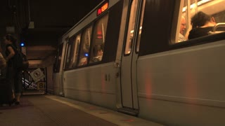 DC Metro Train Departing into Tunnel