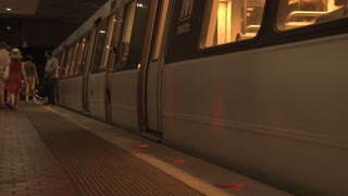 DC Metro Train Leaving Station