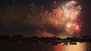 DC Monument Fireworks Show Finale