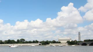 DC River Time Lapse with Monuments