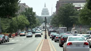 DC Traffic By US Capitol Timelapse