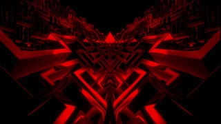 Deep Red Rotating Labyrinth Loop Background
