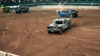 Demolition Cars Swerving In Circles