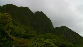 Dense Clouds Over Tropical Mountains