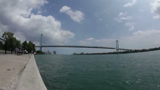 Detroit Ambassador Bridge Time Lapse