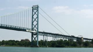 Detroit Ambassador Bridge Traffic