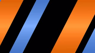 Diagonal Stripes Transition Blue & Orange