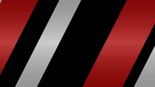 Diagonal Stripes Transition Red & Silver